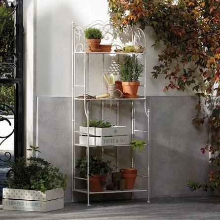 Chatsworth Cream 4 Tier Outdoor Shelf Unit | Dunelm | Garden ideas ...