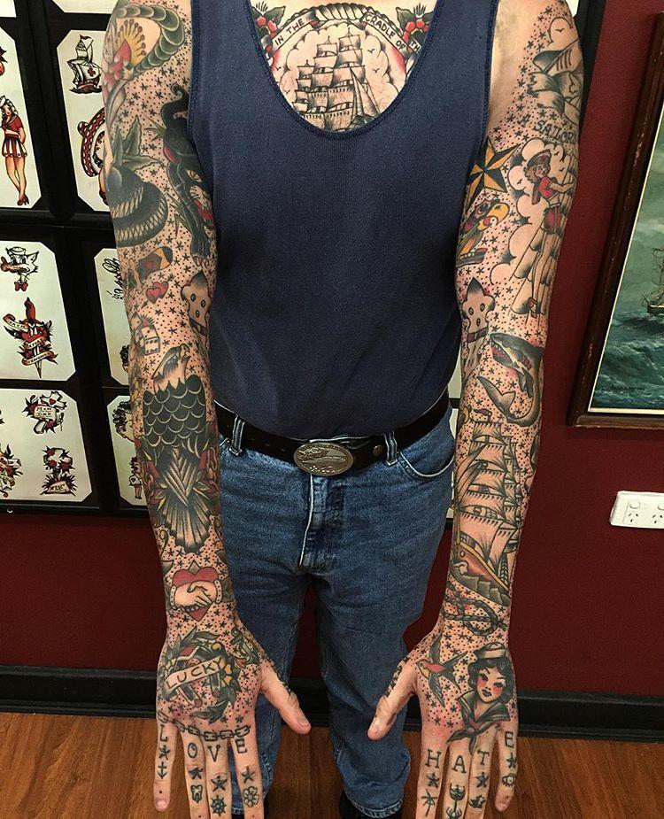 10+ Amazing Sailor jerry tattoos sleeve ideas