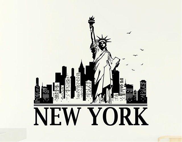 Vinilos Adhesivos Ciudades New York 03993 Tatuaje De Nueva York Arte De Nueva York Ciudad New York