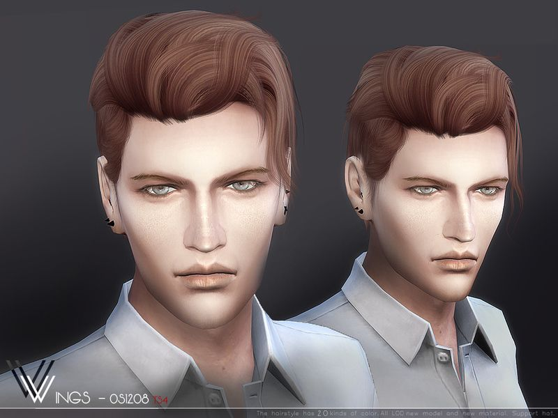 This Hair Style Has 20 Kinds Of Color Found In Tsr Category Sims 4