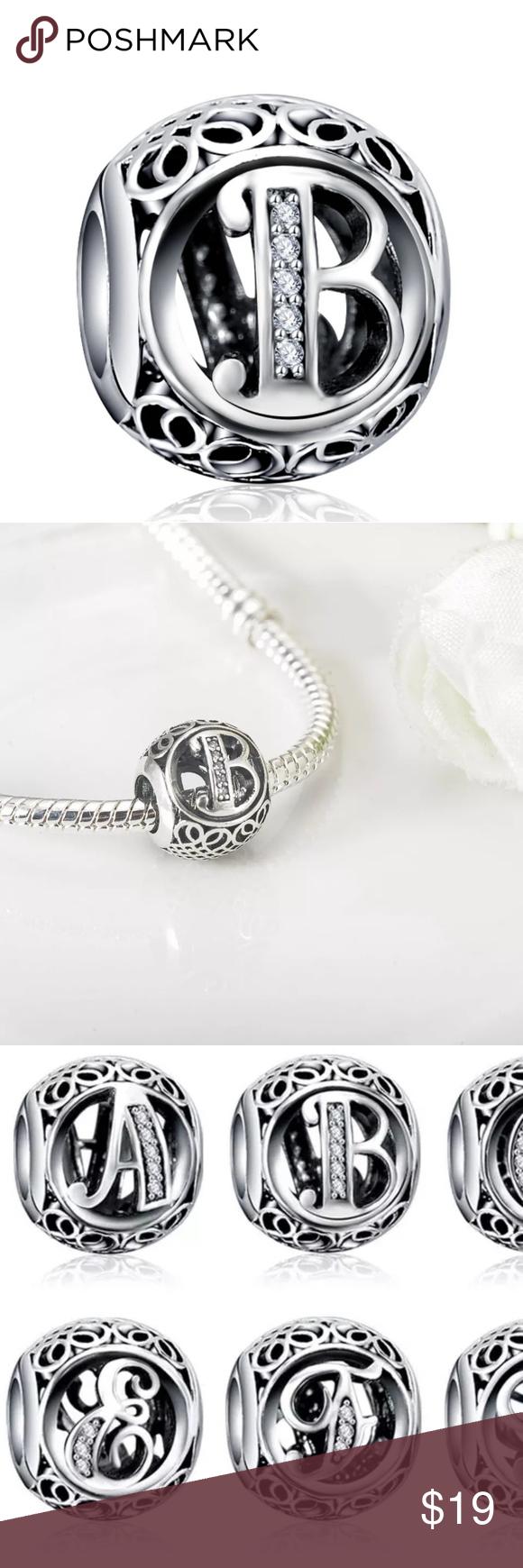 Charm Letter B Pandora Charm Bracelet Pandora Charms Jewelry Bracelets