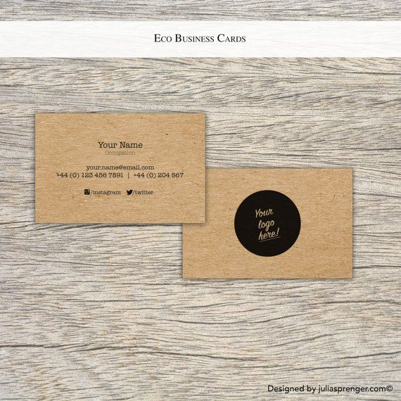 Eco kraft paper business cards 100x 4320 httpsetsyuk eco kraft paper business cards 100x 4320 https reheart Image collections
