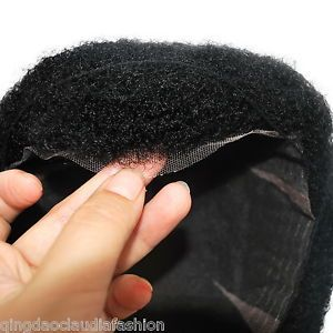 Mens Black Curly Human Hair Tou Wig For African Men Lace Hairpiece Ebay
