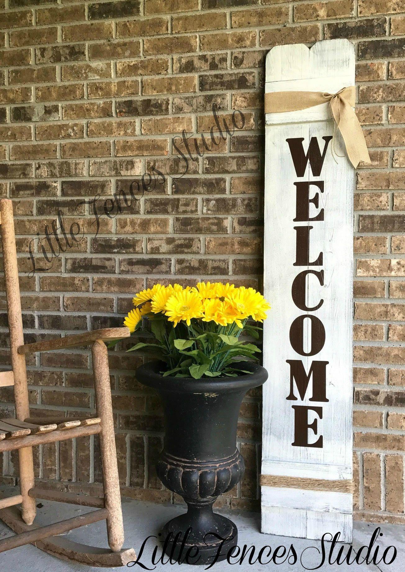 Welcome Sign Rustic Wood Welcome Sign Front Door Welcome ...