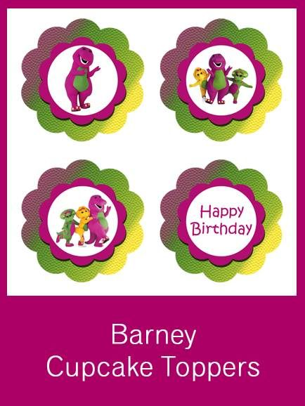 Barney Cupcake Toppers Free Pdf Download Chase S Barney Party