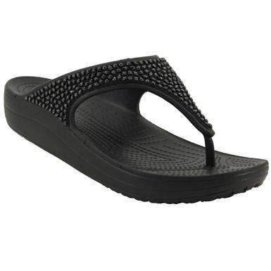 344f16ddcf40c3 Crocs Sloane Embellished Slide Sandals - Womens Black