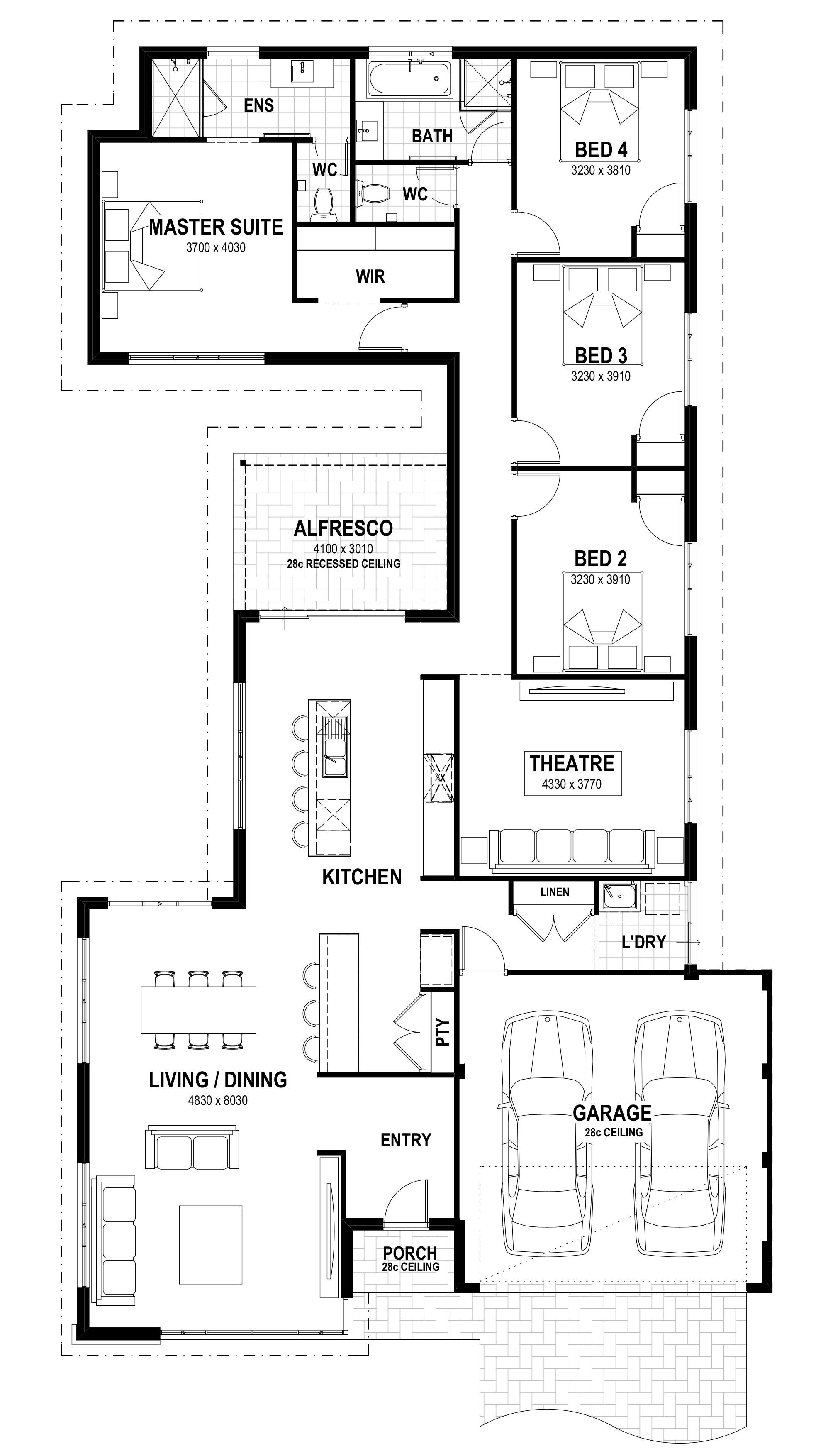 Pin By Assia Belamri On Floor Plans In Australia Home Design Floor Plans House Layout Plans New House Plans