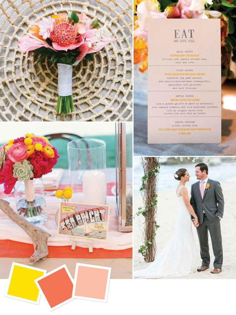 Wedding colors for a beach wedding  Beach Wedding Color Palettes We Love  Hawaii Wedding  Pinterest