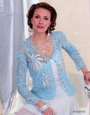 Horgolt csipkekardigán       ♪ ♪ ... #inspiration_crochet #diy GB