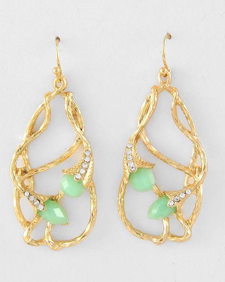 FG527 - Dangle Earrings - Mint Green