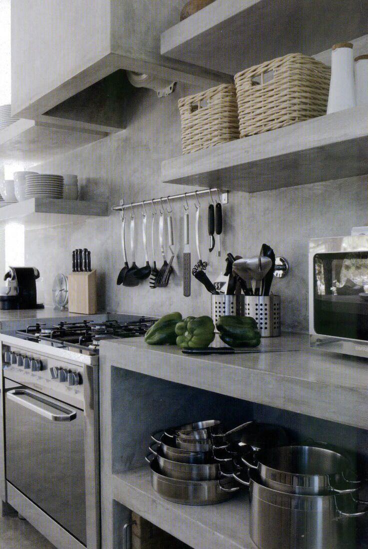Cocina En Microcemento Cocinas De Obra Cocina De Concreto