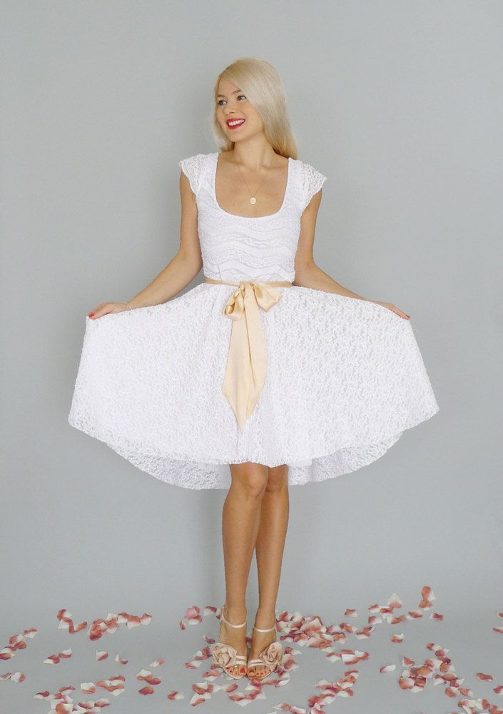 sweet white dress for bridal showers imogen white lace short reception dress with