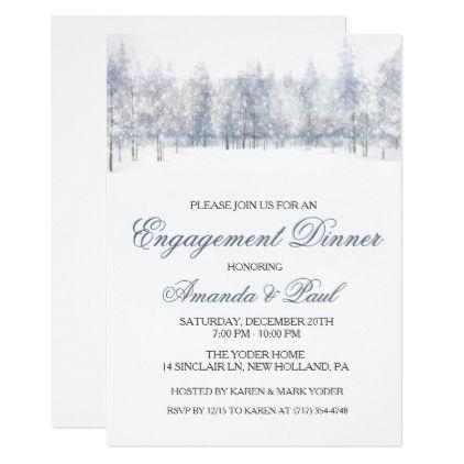 Winter engagement dinner invitation stopboris Images