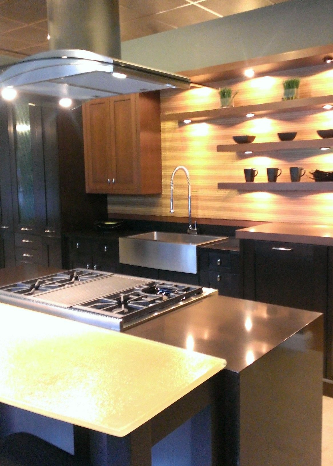 Modern Kitchen Design With Open Shelving | Kenwood Kitchens In Annapolis,  Maryland | Stainless Steel