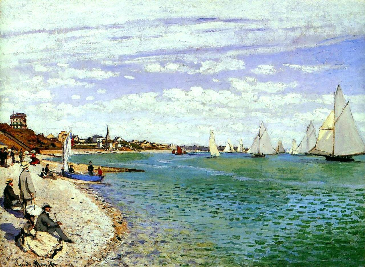 Regatta at Sainte-Adresse by @claude_monet #impressionism