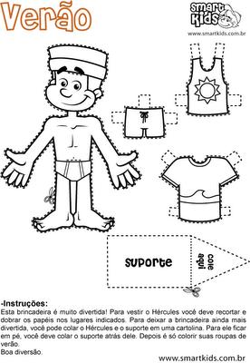 resultado de imagem para bonecos e roupas para imprimir desenhos