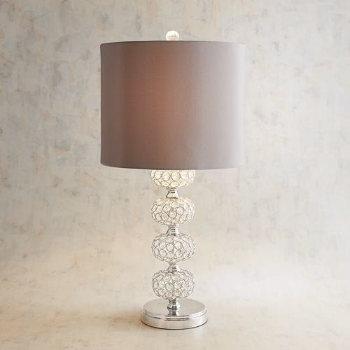 Stacked Crystal Ball Silver Table Lamp | Pier 1 Imports