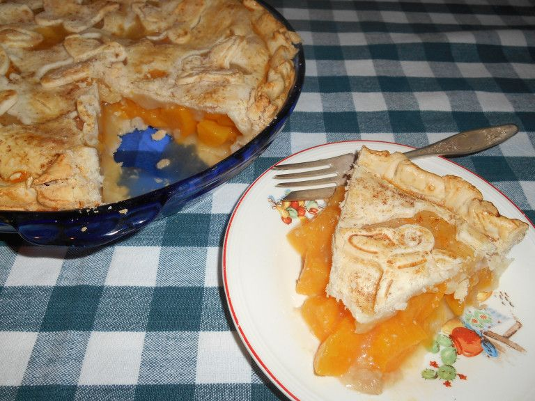 Peach Pie From Canned Peaches