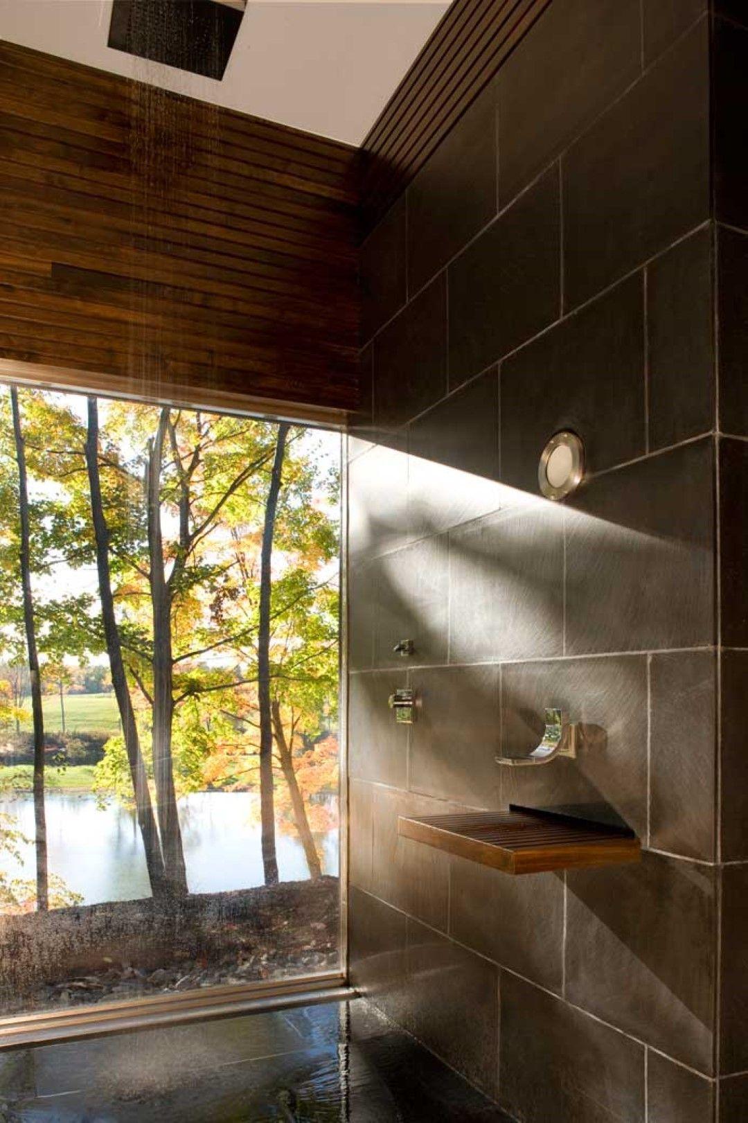 Quadrat Duschkopf Klares Glas Fenster, Benutzerdefinierte
