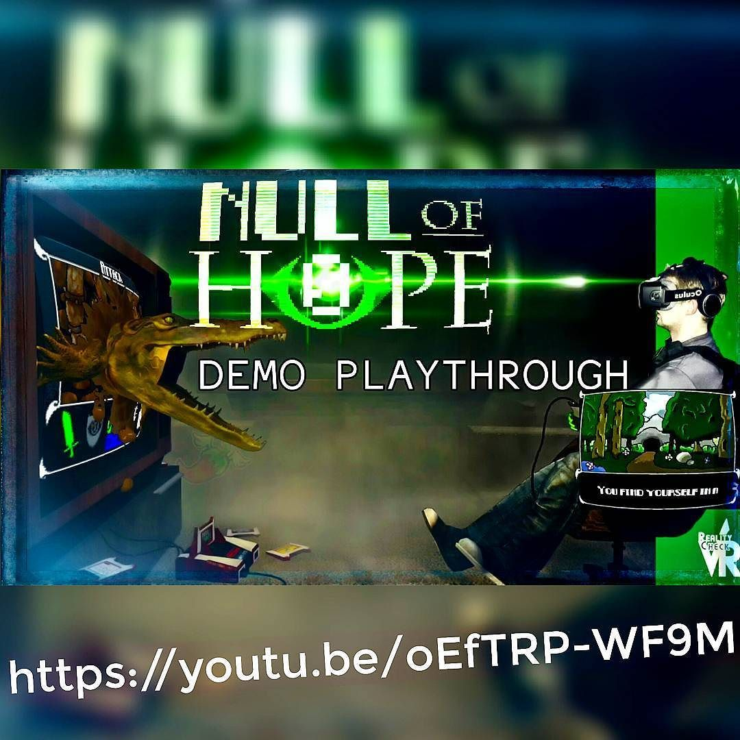 An awesome Virtual Reality pic! Null of Hope is an completely forgot unique and original made for VR retro-gaming title! Old text based module styled games meets modern cutting edge VR environment. Truly amazing! By the end of the demo everything was covered in shit! Like I said amazing!  Live on Kickstarter!  #kickstarter #nullofhope #retrovrgame #retrostyle #retrogame #retro #dungeon #virtualreality #oculusriftdk2 #oculusrift #htcvivelive #htcvive #uniquegame #mice #textbasedrpg #youtubers…