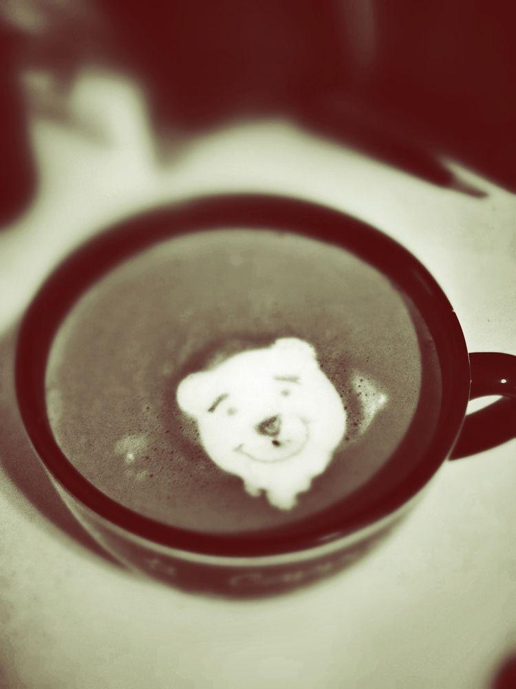 Pooh Got A Sharpie Latte Art