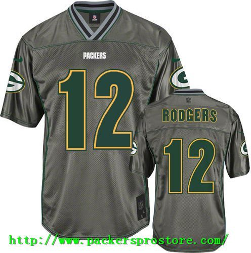 Nike NFL 12 Green Bay Packers Aaron Rodgers Grey Vapor Elite Men s Jersey 4d19e5542
