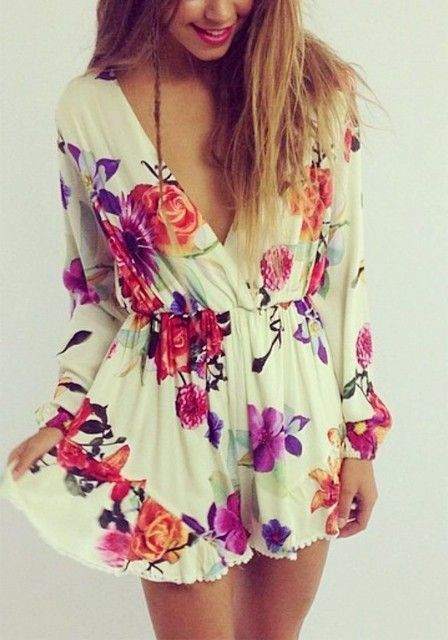 #summer #fashion / long-sleeve floral