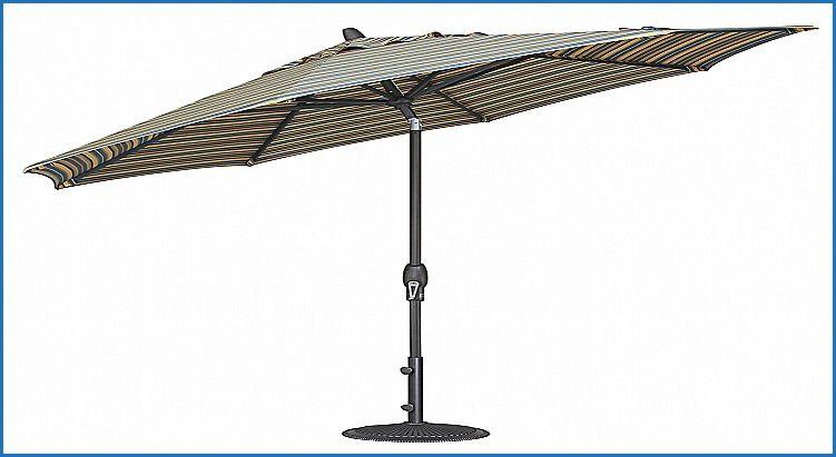 Treasure Garden Aluminum Auto Tilt Umbrella Replacement With