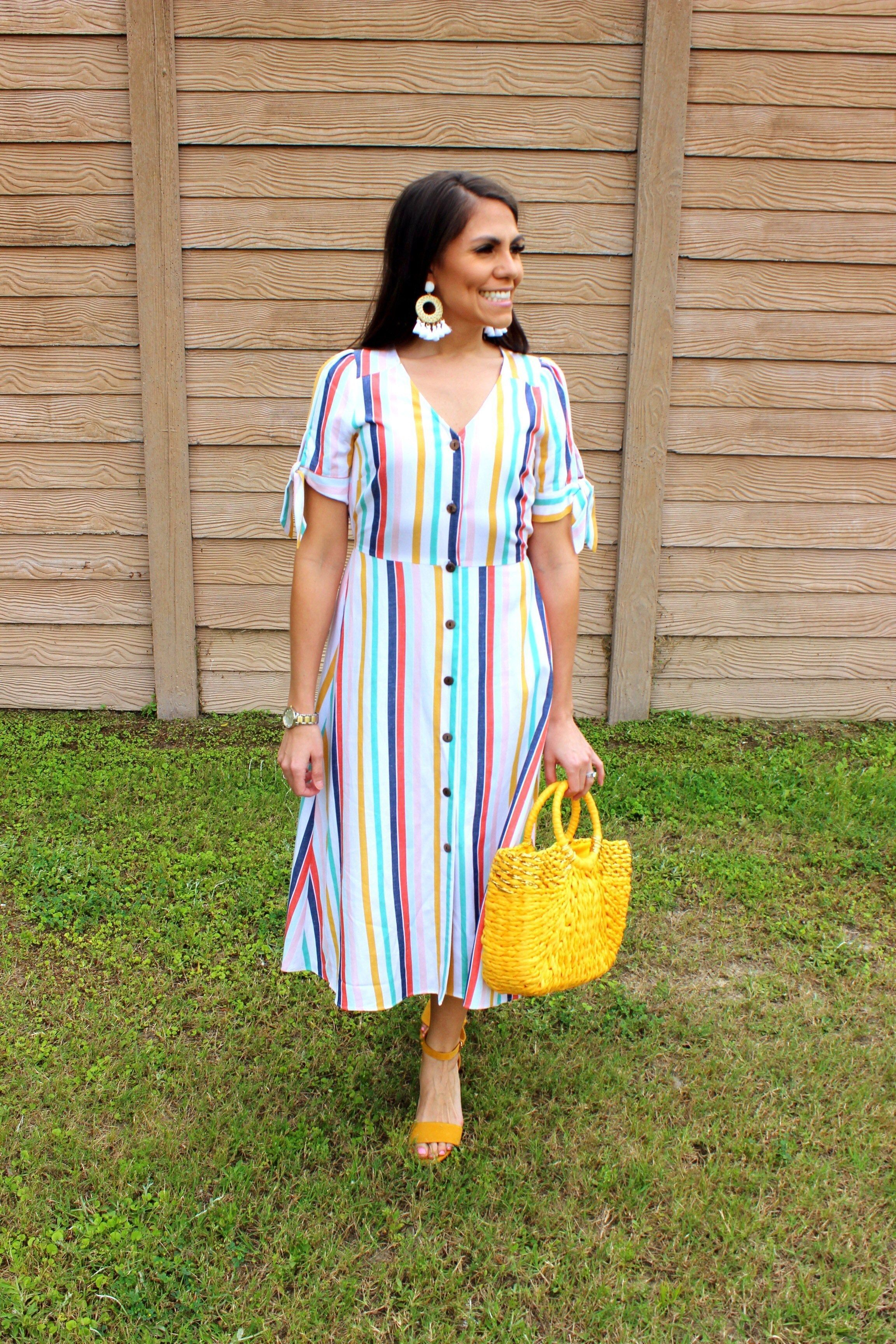 Lovely In Striped Dress Jcpenney Try On Haul May 2019 Lovely In Pink Pursesjcpenney Colorful Fashion Fashion Striped Dress [ 3456 x 2304 Pixel ]