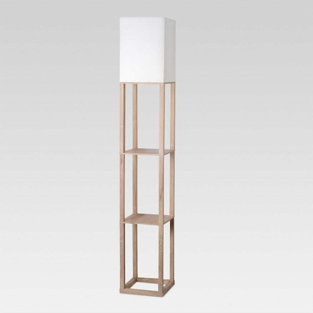 Shelf Floor Lamp Light Wood Includes Led Light Bulb Threshold Floor Lamp With Shelves White Floor Lamp Shelf Lamp