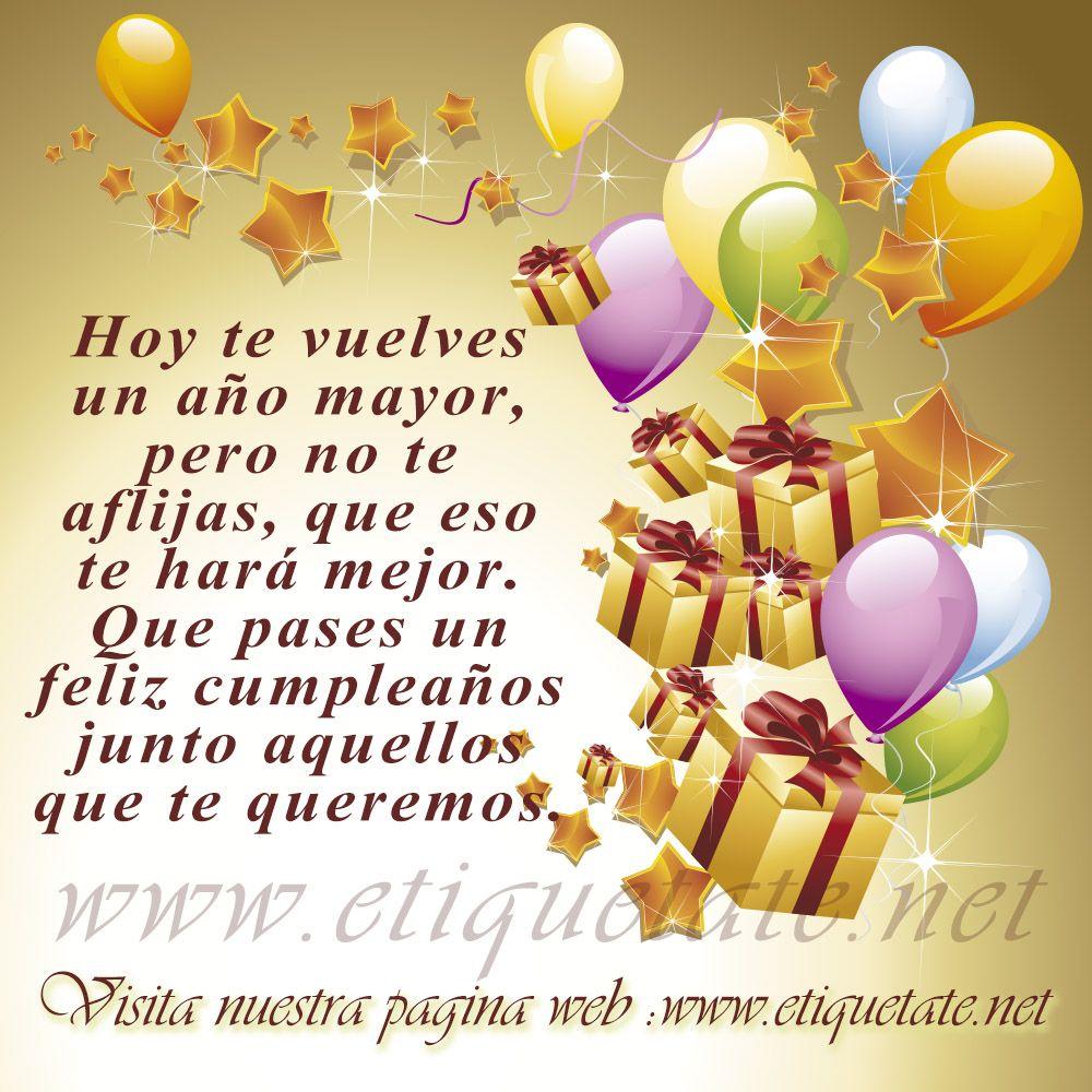 Cumpleaños | andres | Pinterest | Frases para cumpleaños, Frase de ...