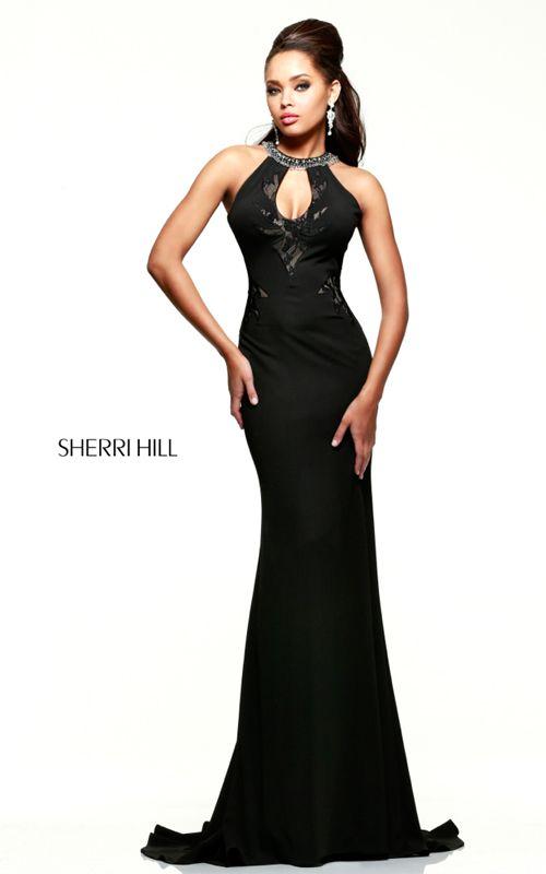 Sexy Back Sherri Hill 21363 Black Prom Dress