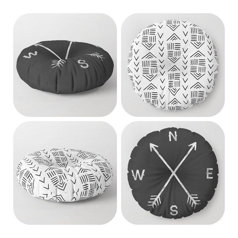 living room pillows, kids room decoration, customizable floor pillows, viking scandinavian style seating cushion