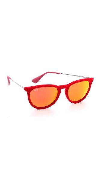 20a549e586f Ray-Ban Erika Velvet Sunglasses- The only thing better than red velvet cake ...red velvet sunglasses.