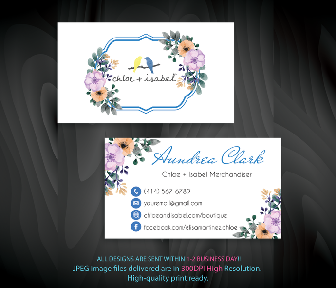 Chloe Isabel Business Cards Personalized Chloe Isabel Business Cards Chloe Isabel Custom Business Card Personalized Cards Cli93 Business Cards Beauty Custom Business Cards Personal Cards