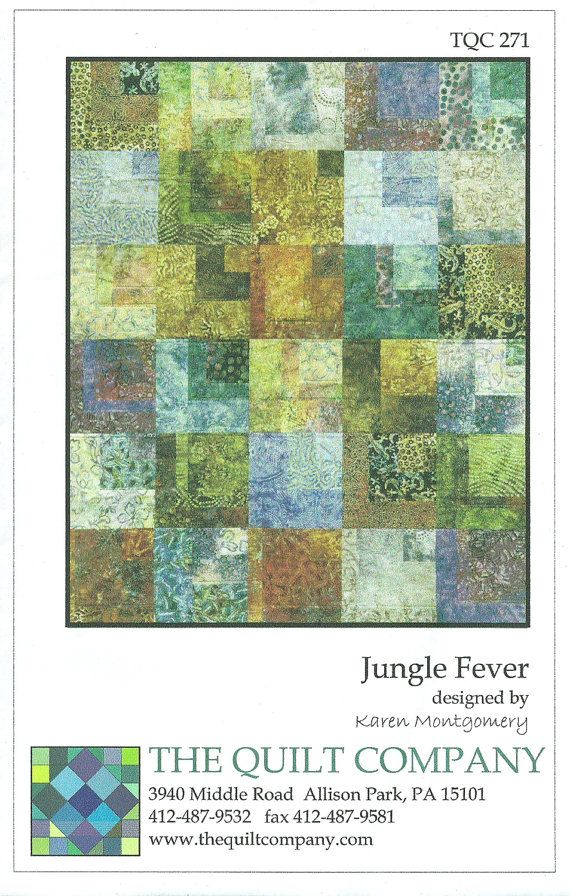 Jungle Fever Pattern DIY, Includes 4 Sizes, by Karen Montgomery ... : karen montgomery quilt patterns - Adamdwight.com