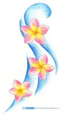 Plumeria Drawing : plumeria, drawing, Tattoos, Doodles:, Plumeria, Frangipani, Flowers, Tropical, Flower, Tattoos,, Tattoo,