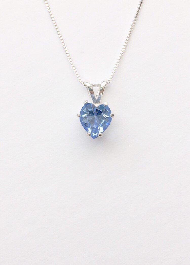 Brilliant Bijou Sterling Silver Blue and White Diamond Round Pendant 16 inches