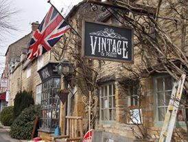 Vintage shop in Stow on the Wold, Cotswolds, England
