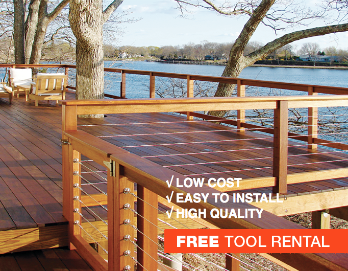 stainless steel cable railing system for outdoor decks and ...