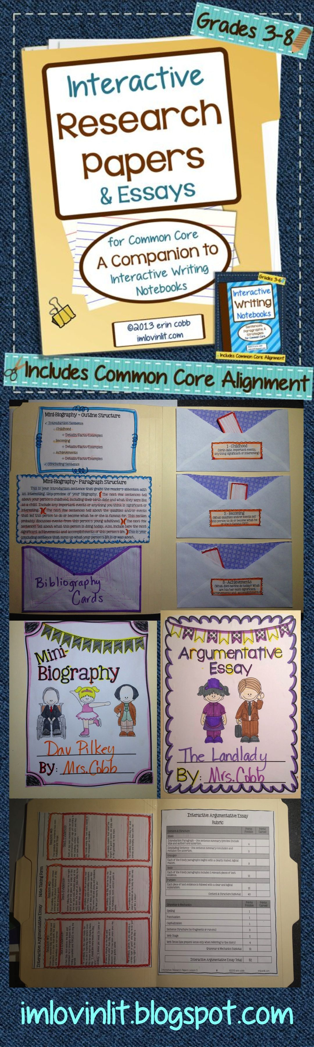 Interactive Research Papers Amp Essays For Common Core