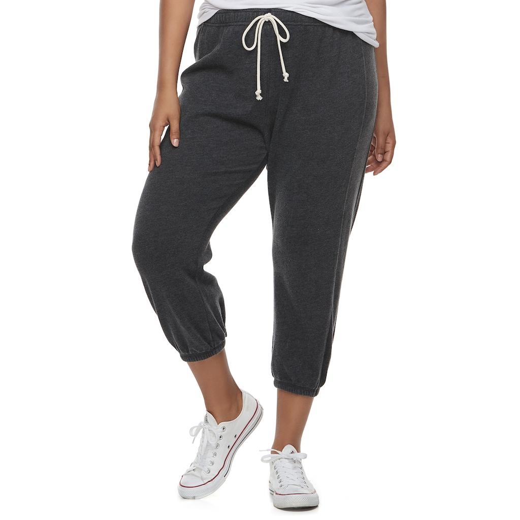 fcab6fa5f35e22 Juniors' Plus Size SO® Cropped Jogger Sweatpants, Teens, Size: 3XL, Oxford