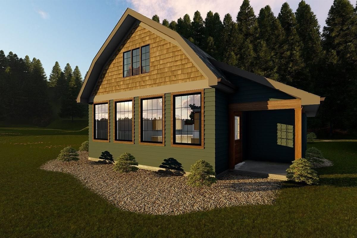 House Plan 963 00183 Vacation Plan 730 Square Feet 1 Bedroom 1 Bathroom Vacation House Plans Tiny House Vacation Lake House Plans