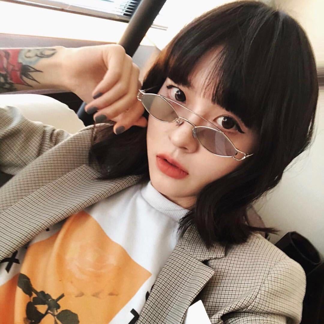 350f0fde85  6.99 Peekaboo vintage tiny sunglasses for women oval 2019 silver gold frame  metal small sun glasses for men gift uv400  sunglasses  smallsunglasses ...
