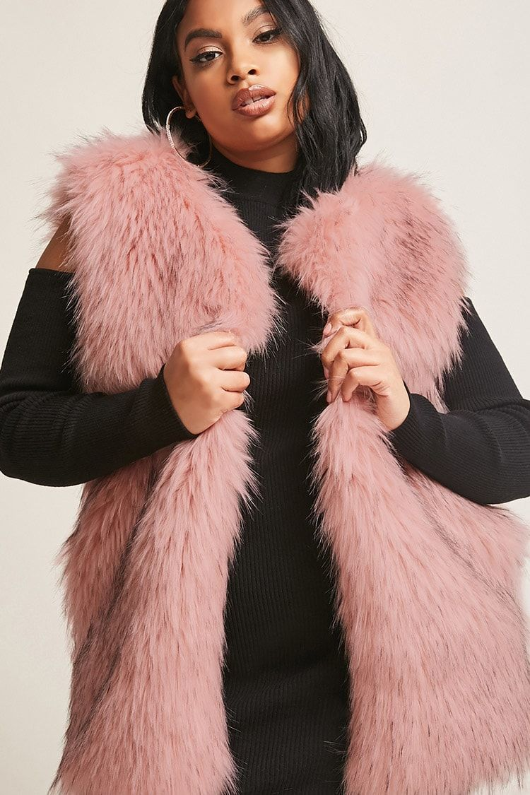 fb80dab669323 Product Name Plus Size SHACI Faux Fur Vest