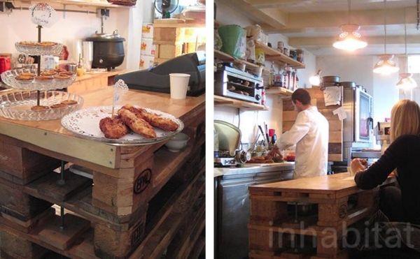 Möbel Aus Europaletten Theke Kassentisch Bäckerei DIY Ladeneinrichtung