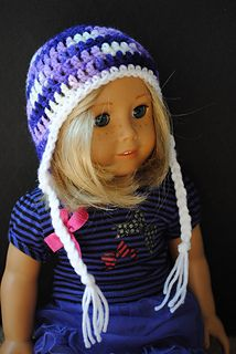 Earflap Hat for 18 inch Doll