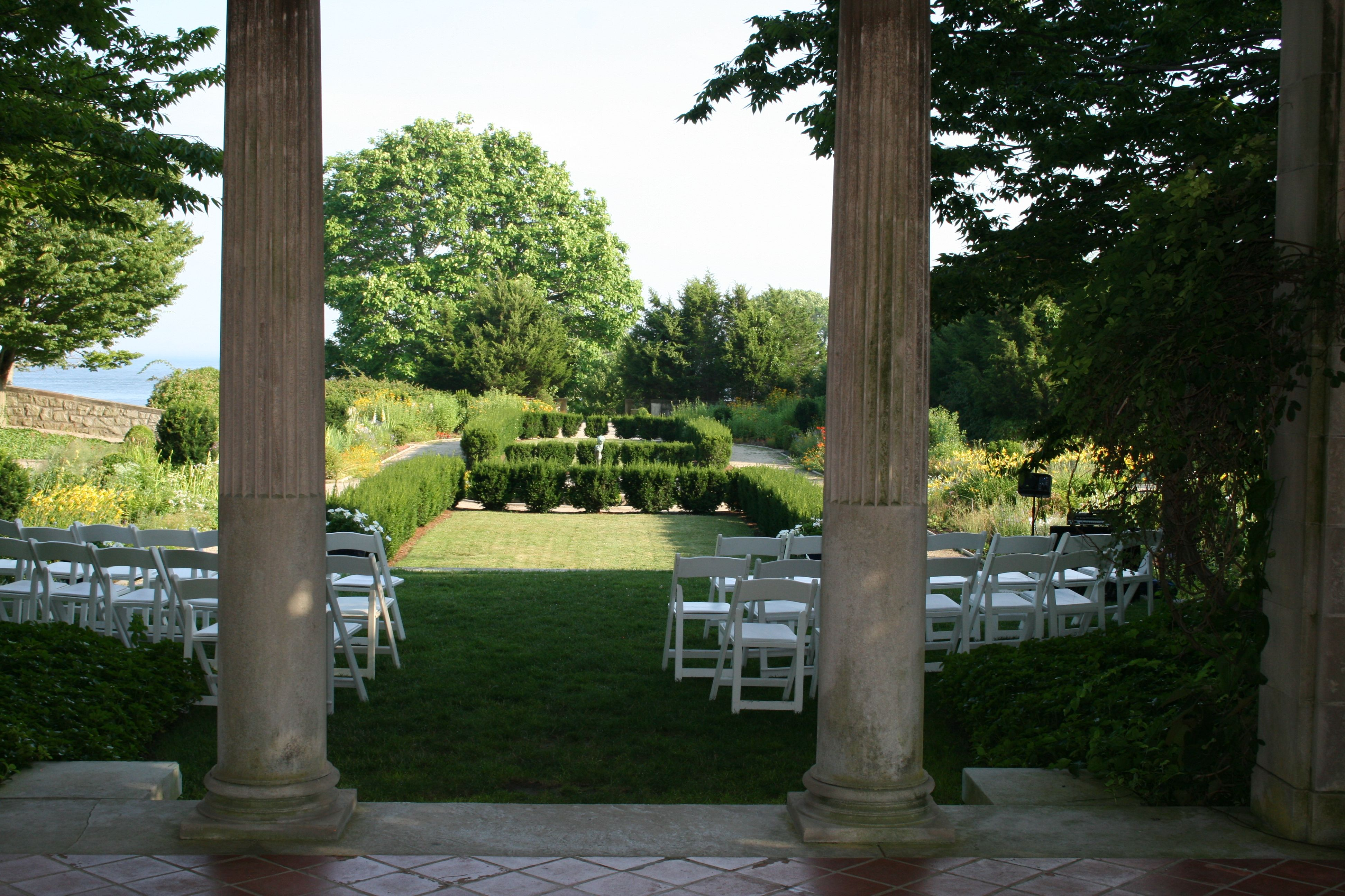 Looking From The Harkness Park Wedding Pergola Toward The Garden And The Ocean Pergola Decorations Pergola Wedding Pergola