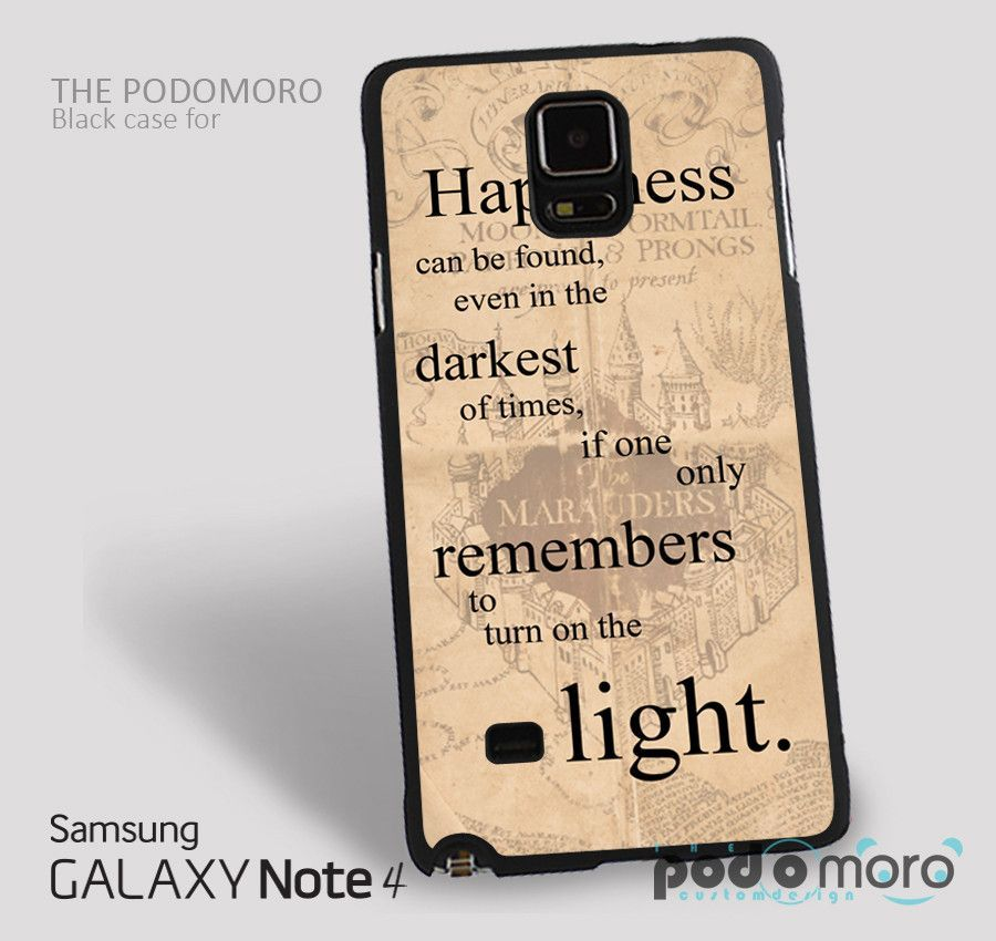 Harry Potter Happy Quote for iPhone 4/4S, iPhone 5/5S, iPhone 5c, iPhone 6, iPhone 6 Plus, iPod 4, iPod 5, Samsung Galaxy S3, Galaxy S4, Galaxy S5, Galaxy S6, Samsung Galaxy Note 3, Galaxy Note 4, Phone Case