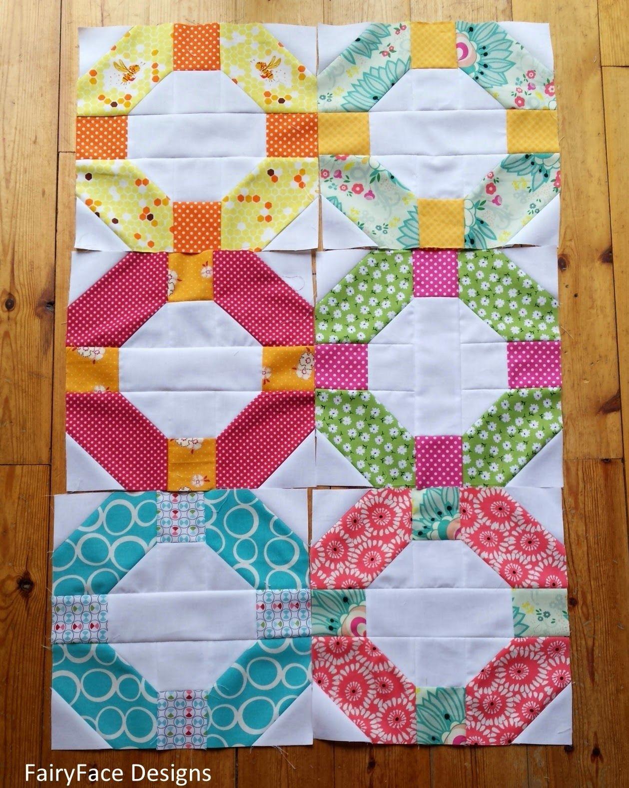 Fairyface Designs Starting A Cheerio Quilt